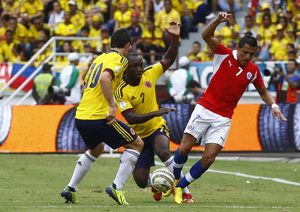 Link sopcast trận Colombia vs Chile, 07h00 – 23/06